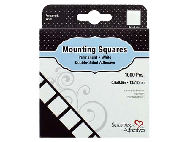 3L Scrapbook Adhesives Mounting Squares 1000 pc. Permanent