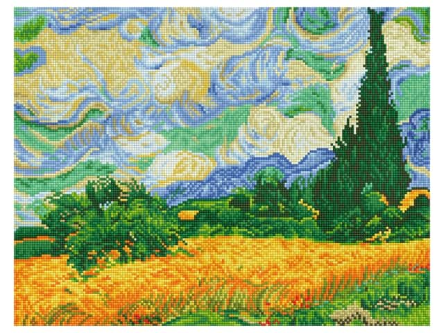 Diamond Dotz Facet Art Kit Intermediate Wheat Fields Van Gogh