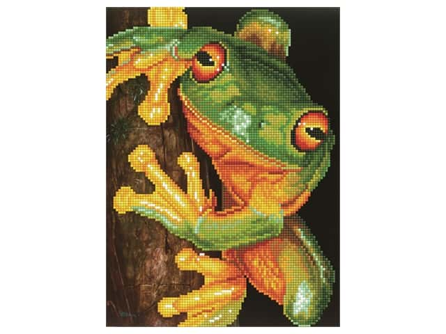 Diamond Dotz Facet Art Kit Intermediate Green Tree Frog