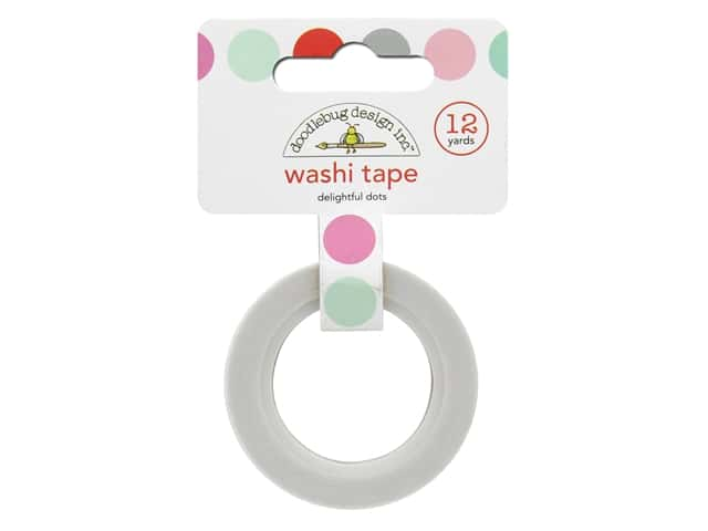 Doodlebug Washi Tape 5/8 in. x 12 yd. Sweet Things Delightful Dots