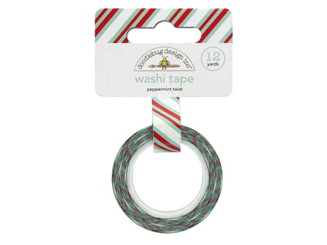 Doodlebug Collection Milk & Cookies Washi Tape Peppermint Twist