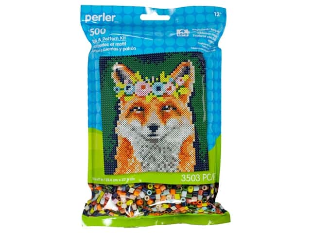 Perler Fused Bead & Pattern Kit Flower Crown Fox