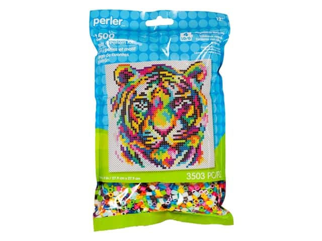 Perler Fused Bead & Pattern Kit Rainbow Tiger