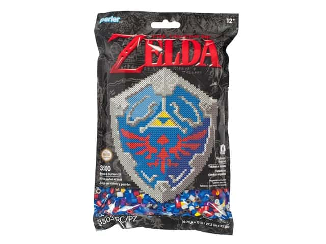 Perler Fused Bead & Pattern Kit Legend of Zelda Hylian Shield