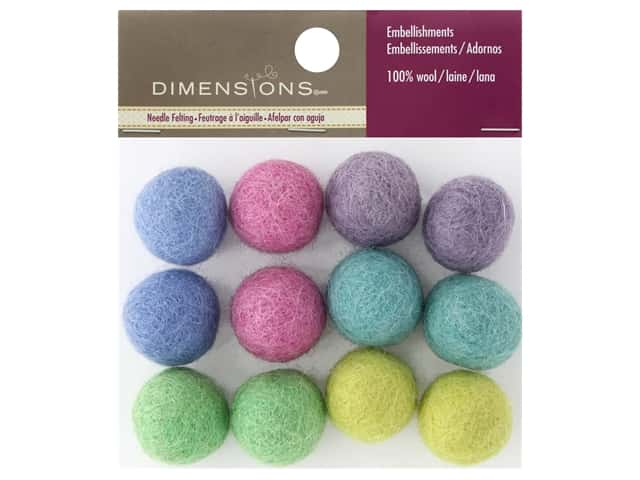 Dimensions 100% Wool Felt Embellishment Ball Meadow