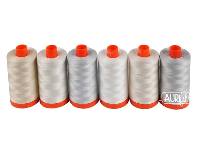Aurifil Eleanor Burns Quilt In A Day Neutrals Thread Collection 6 pc.