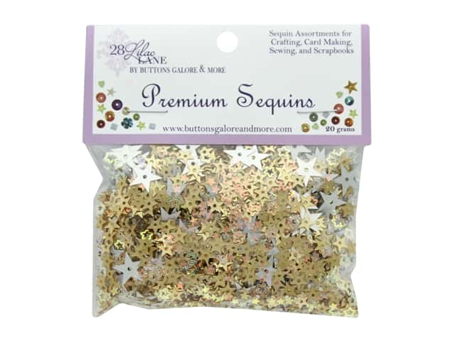 Buttons Galore 28 Lilac Lane Premium Sequins Glittering Moment