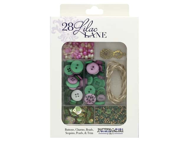 Buttons Galore 28 Lilac Lane Embellishment Kit Aloha