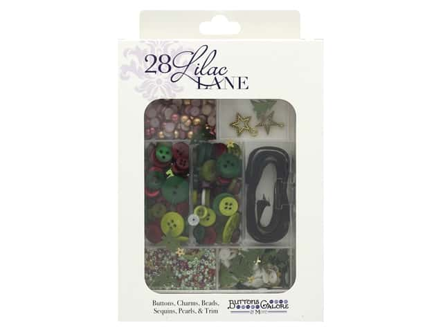 Buttons Galore 28 Lilac Lane Embellishment Kit Christmas Carol
