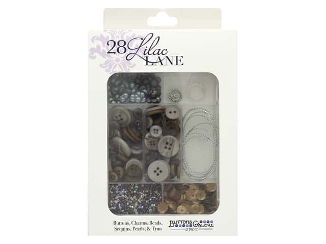 Buttons Galore 28 Lilac Lane Embellishment Kit In Gear