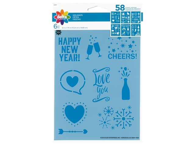 Delta Stencil 6 in. x 7.75 in. Holidays 6 pc