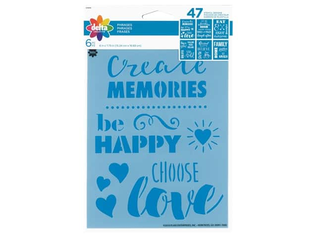 Delta Stencil 6 in. x 7.75 in. Phrases 6 pc