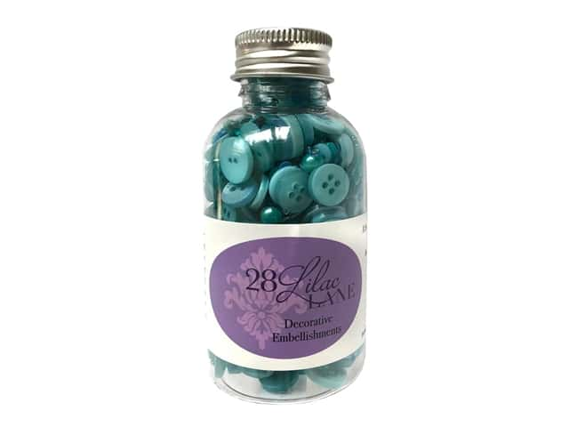 Buttons Galore 28 Lilac Lane Embellishment Bottle Mediterranian Shore