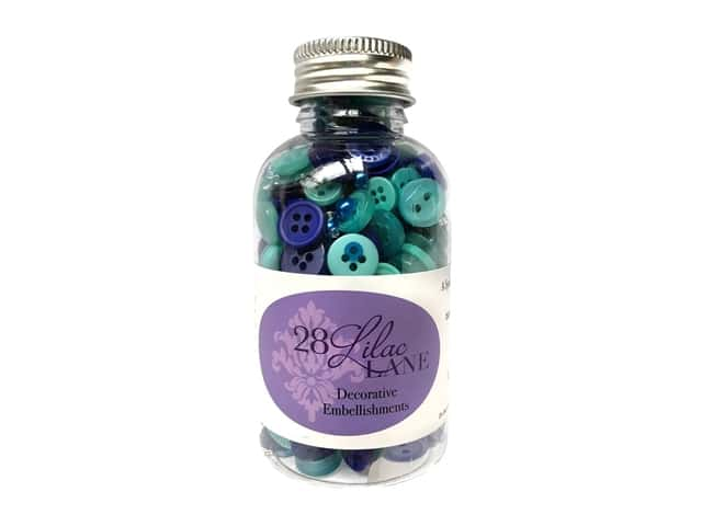 Buttons Galore 28 Lilac Lane Embellishment Bottle Good Times