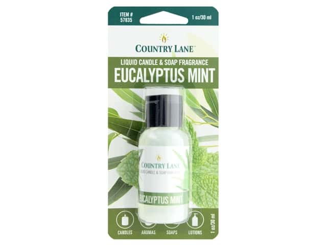 Country Lane Liquid Candle & Soap Fragrance Eucalyptus Mint 1 oz