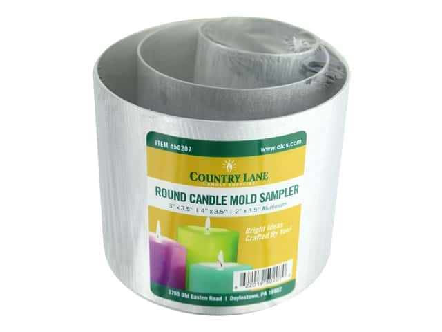 Country Lane Candle Mold Aluminum Sample Pack Round