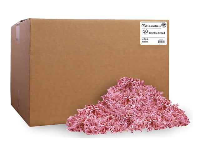 PA Essentials Crinkle Shred 10 lb. Light Pink