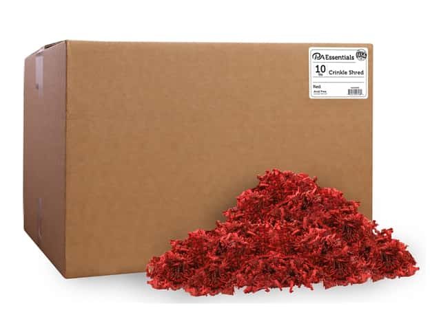 PA Essentials Crinkle Shred 10 lb. Red