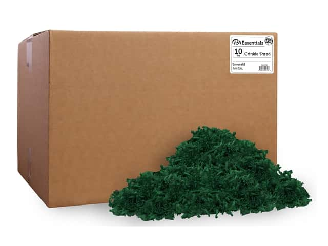 PA Essentials Crinkle Shred 10 lb. Emerald
