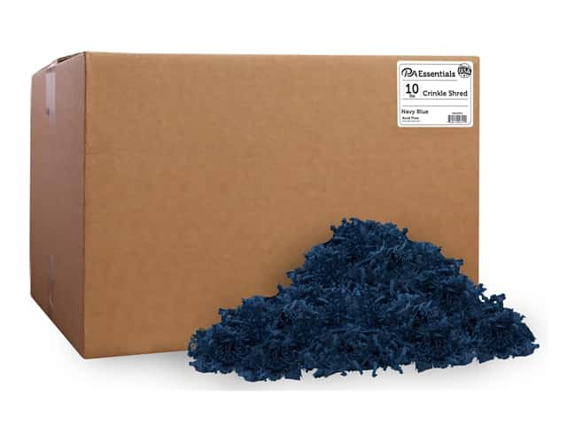 PA Essentials Crinkle Shred 10 lb. Navy Blue