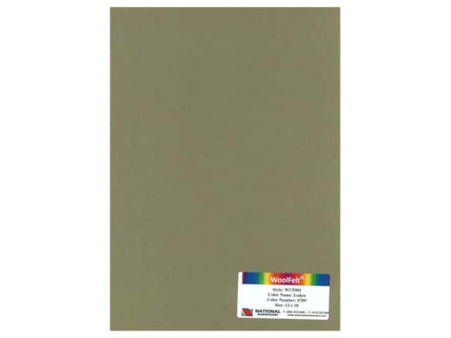 National Nonwovens 20% Wool Felt 12 x 18 in. Loden