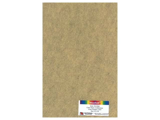 National Nonwovens 20% Wool Felt 12 x 18 in. Cobblestone