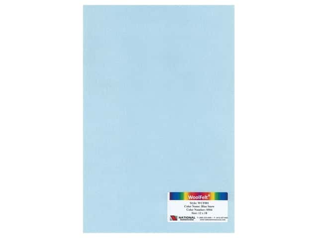 National Nonwovens 20% Wool Felt 12 x 18 in. Blue Snow