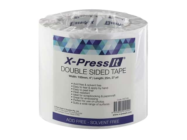 """X-Press it Double Sided Adhesive Tape 4""""x 27yd"""