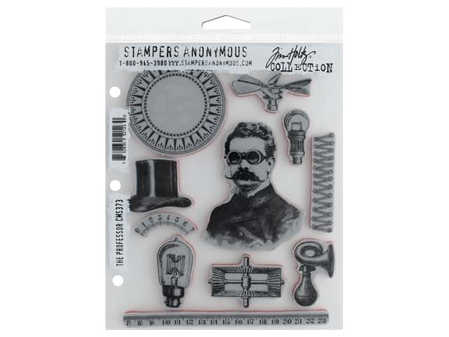 Stampers Anonymous Tim Holtz Cling Mount Stamp Set - The Professor