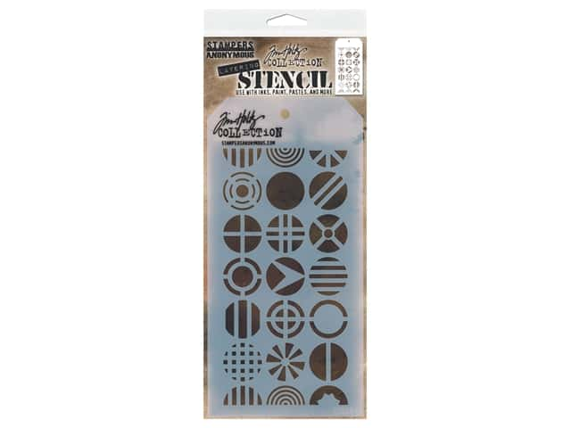 Stampers Anonymous Tim Holtz Layering Stencil - Patchwork Circle