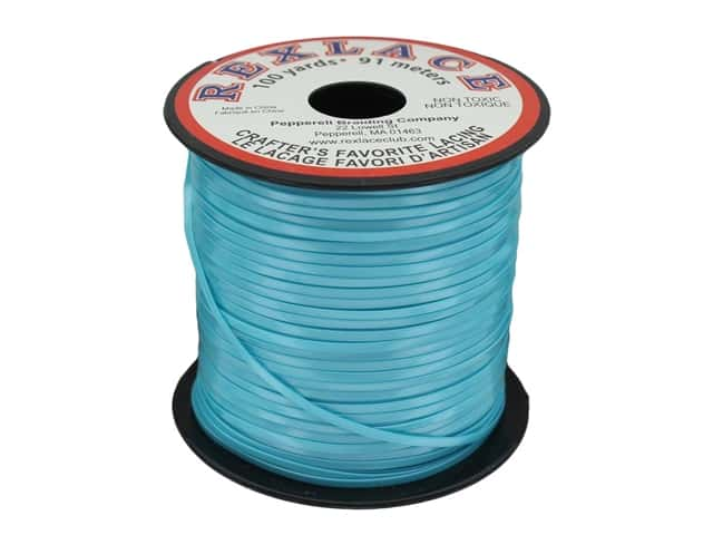 Pepperell Rexlace Craft Lace 100 yd. Pearlized Turquoise