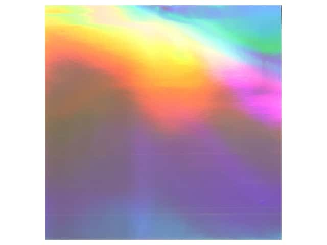 "Bazzill Cardstock 12""x 12"" Foil Holographic Rainbow"
