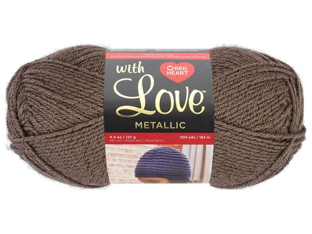 Red Heart With Love Metallic Yarn 200 yd. Taupe