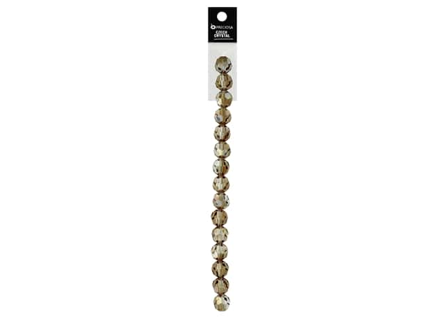 John Bead Preciosa 5 in. Strand Round 8 mm Celsian