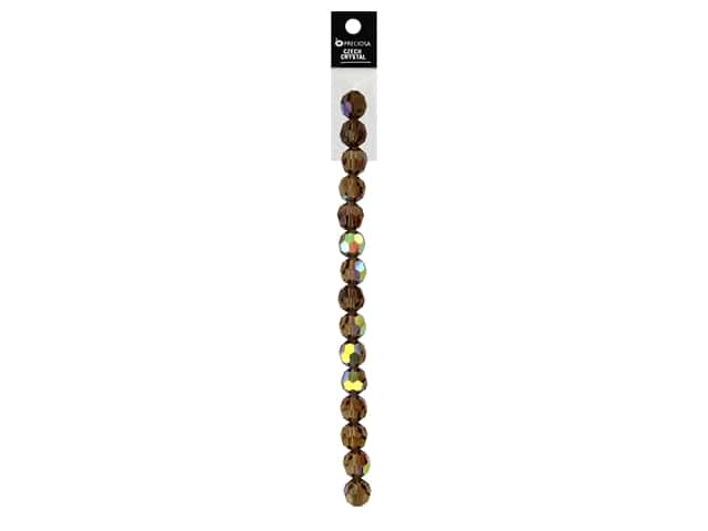 John Bead Preciosa 5 in. Strand Round 8 mm Light Colorado Topaz