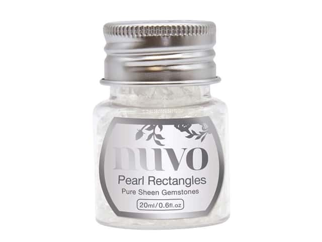 Nuvo Pure Sheen Gemstones .6 oz. Pearl Rectangles
