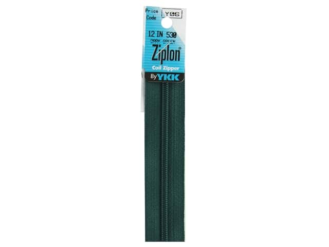 YKK Ziplon Coil Zipper 12  in. Dark Green