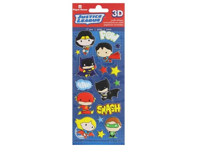 Paper House 3D Puffy Stickers - Justice League Heroes
