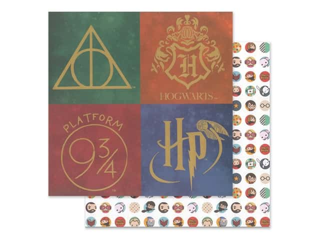 Paper House Paper 12 x 12 in. Warner Bros Harry Potter Icons