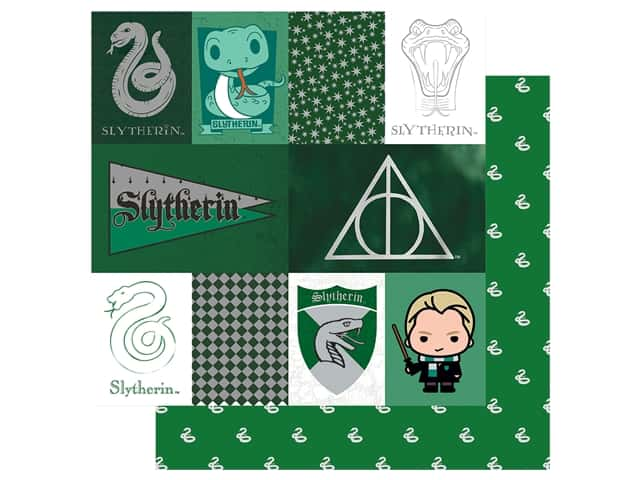 Paper House Paper 12 x 12 in. Warner Bros Harry Potter Slytherin Tag
