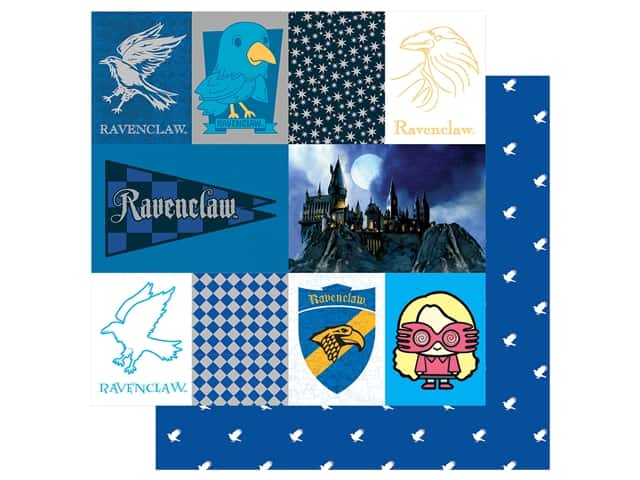 Paper House Paper 12 x 12 in. Warner Bros Harry Potter Ravenclaw Tag