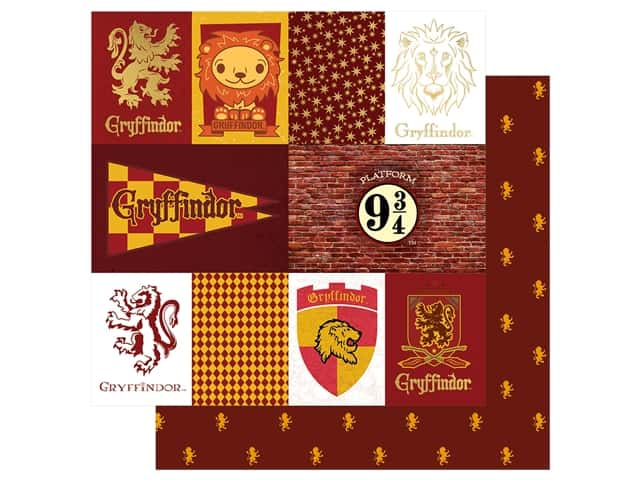 Paper House Paper 12 x 12 in. Warner Bros Harry Potter Gryffindor Tag