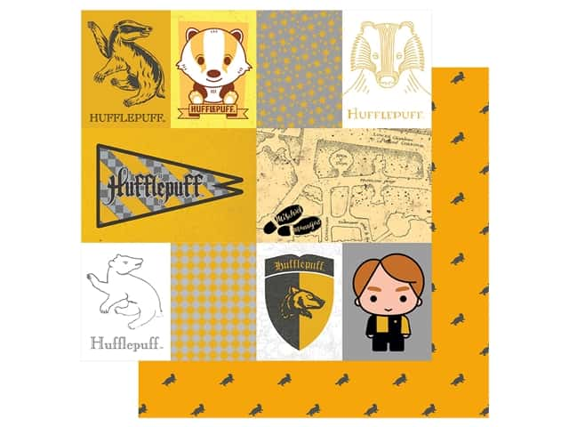 Paper House Paper 12 x 12 in. Warner Bros Harry Potter Hufflepuff Tag