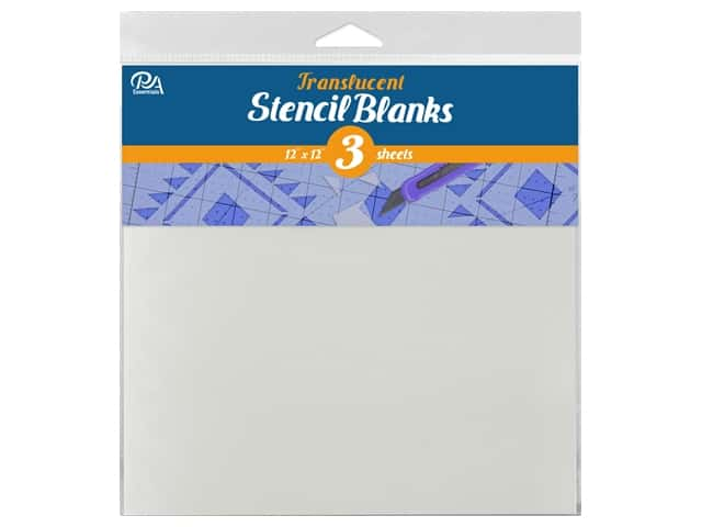 "PA Essentials Stencil 12""x 12"" Uncut Blank Translucent 3pc"