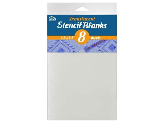 "PA Essentials Stencil 5.5""x 8.5"" Uncut Blank Translucent 8pc"