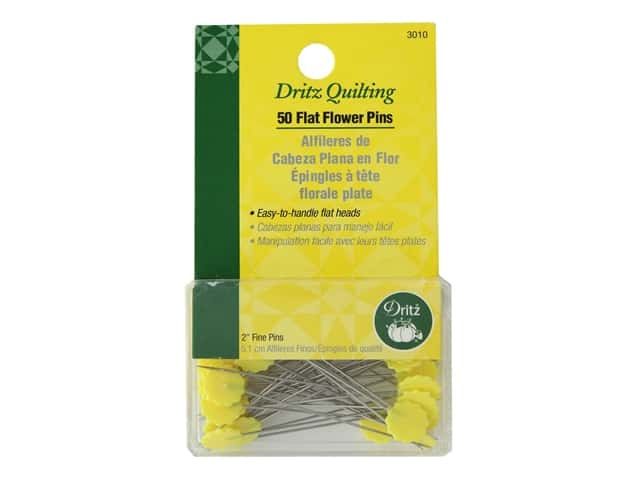Dritz Flat Flower Pins - 2 in. Fine 50 pc