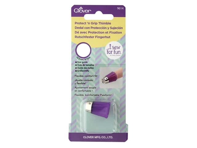 Clover Thimble I Sew For Fun Protect N Grip Thimble Small