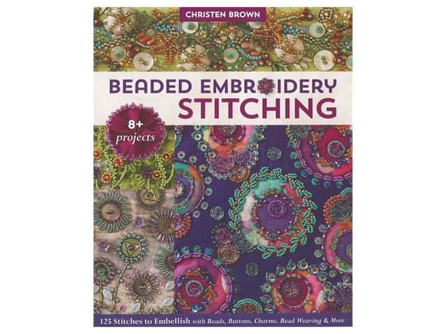 C&T Publishing Beaded Embroidery Stitching Book