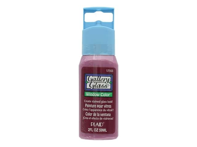 Plaid Gallery Glass Window Color 2 oz. Holiday Berry