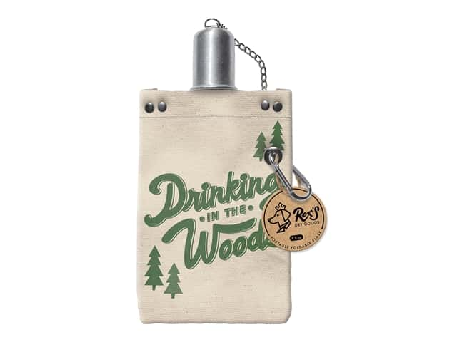 Molly & Rex Canvas Flask Drinking In The Woods 8 oz